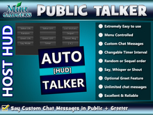 >> Auto Talker & Greeter - Chat Announcements / HOST HUD
