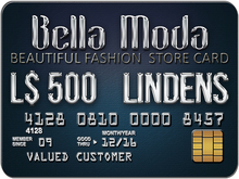 Bella Moda: Store Card / Gift Card L$500