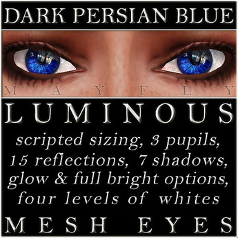 Mayfly - Luminous - Mesh Eyes (Dark Persian Blue)v2