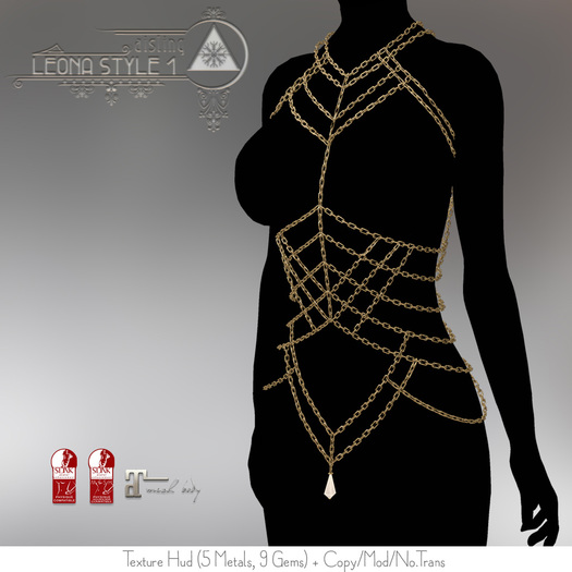 .aisling. Leona Bodychain Style 1 - Maitreya, Slink