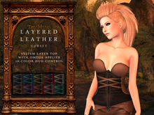 The Muses . Leather Layered Corset . Omega Applier . DEMO