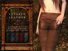 The Muses . Leather Layered Pants . Omega Applier