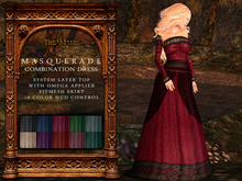 The Muses . Masquerade . Combination Dress (Fitmesh,Omega) DEMO