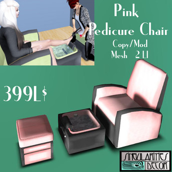 SDD Pink Pedicure Chair