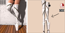 :ESSENCE:HERA WHITE BOOTS SUPER HIGH