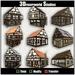 Lavenham Mega Package - 9 Medieval buildings.