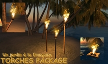 TORCHES PACKAGE COPY SCULPTED - fire - wall torch - bamboo torch