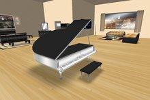 Akaesha's Ebony Piano Concert Grand Piano tagmeadowbrook