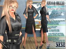 Bella Moda: Maestra Black School Mistress Outfit