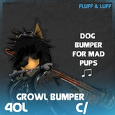 F&L - Growl Dog Bumper