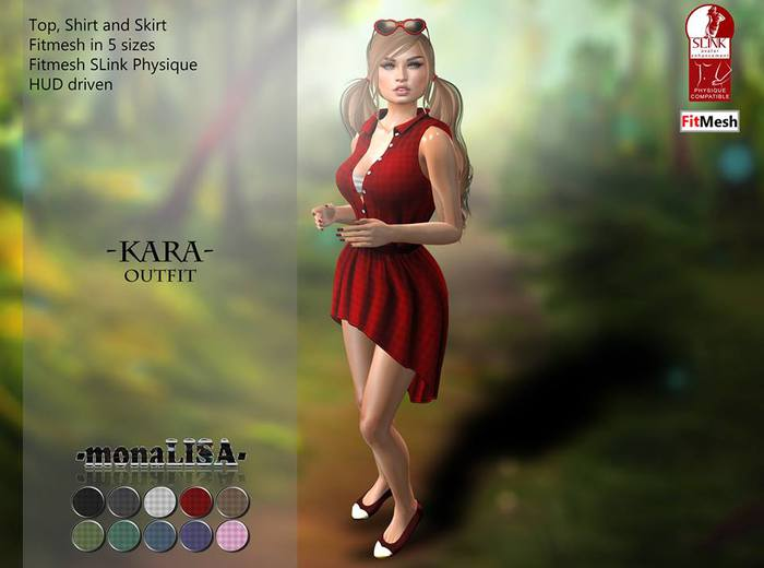 -mL- Kara Outfit (Physique/Fitmesh) - HUD