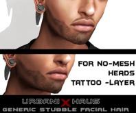 [Urbanix] Generic Stubble Facial Hair TATTOO LAYER