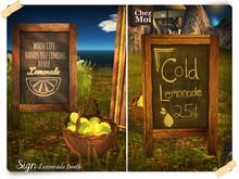 Sign Lemonade Booth ♥ Chez Moi