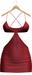Blueberry - Sabina Mesh Dress - Maitreya Lara, Belleza Freya Isis Venus, Slink Physique Hourglass - Red