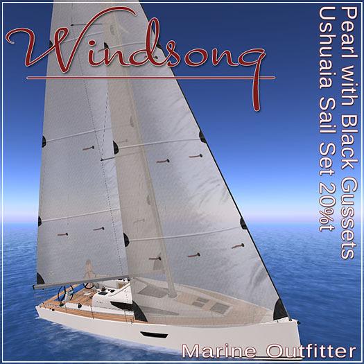 Windsong - TMS/Bandit Ushuaia Sails Pearl-Black Trim 20% - Texture Appliers