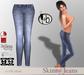 #bubbles Skinny Jeans Lt Blue