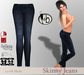 #bubbles Skinny Jeans Dark Blue