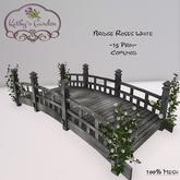Kathy`s Garden Bridge Roses White