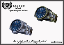 DIAMOND LUXURY MEN'S WATCH