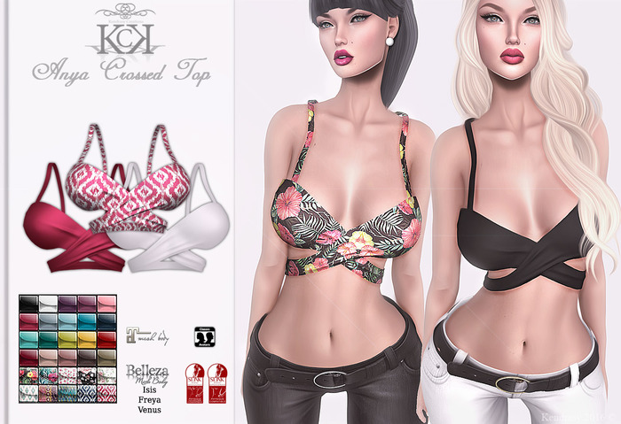 :::KC::: Anya Crossed Top