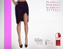 [EN] Pencil Skirt With Slit Purple ::Mesh::