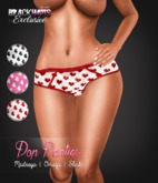 BLACK HAUS - Pop Panties Heart Red Slink, Maitreya, Omega
