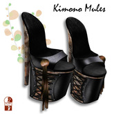 [ KIMONO ] Kimono Mules Alice
