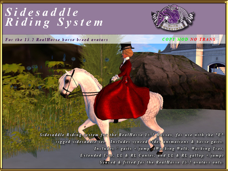 *E* RealHorse Sidesaddle Riding Systems [BOXED]