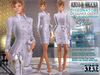Bella Moda: Disegnatore Lilac Leather Designer Outfit & Shoes - 5 Standard Sizes + Fitted - FULL