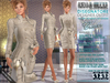 Bella Moda: Disegnatore Cream Leather Designer Outfit & Shoes - 5 Standard Sizes + Fitted - FULL