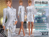 Bella Moda: Disegnatore Blue Leather Designer Outfit & Shoes - 5 Standard Sizes + Fitted - FULL
