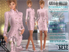 Bella Moda: Disegnatore Pink Leather Designer Outfit & Shoes - 5 Standard Sizes + Fitted - FULL