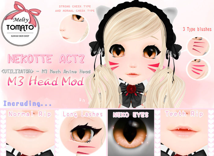 *Melty TOMATO* NEKOTTE ACT2 SKIN for M3 Head