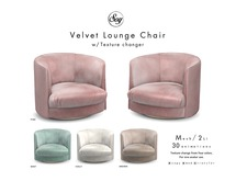 Soy. Velvet Lounge Chair [addme]