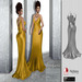F I N E S M I T H STACIE white long open back dress fitmesh with back necklace- maitreya, belleza, slink and 5 standard
