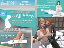 NEW! Rapid Results Pregnancy Test {animate} 100% mesh + BONUS Items