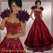 **Lovely** Romance Gown in Red Satin MOD/COPY