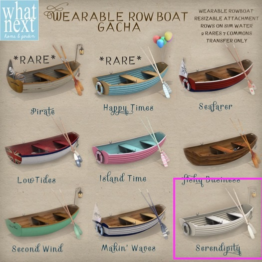 {what next} 'Serendipity' Wearable Row Boat (boxed)