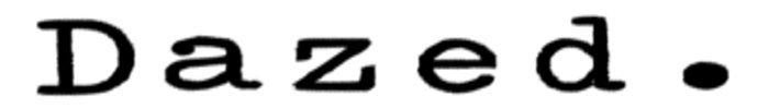 Dazed 700x100 mp banner