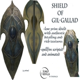 LOTR Shield of Gil-Gallad Spellfire Scripted & Animated (Boxed)