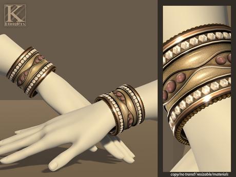 (Kunglers) Gislaine bracelets - Crystal