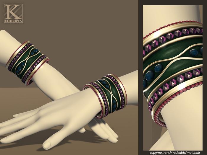 (Kunglers) Gislaine bracelets - Grape