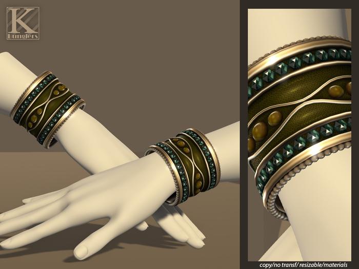 (Kunglers) Gislaine bracelets - Jasper