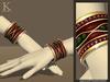(Kunglers) Gislaine bracelets - Ruby