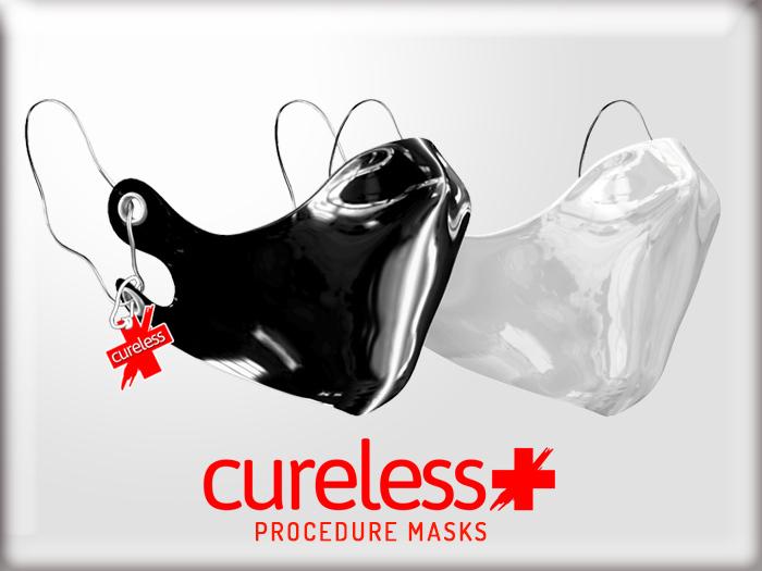 CURELESS [+] Procedure Mask / Vinyl White+Black
