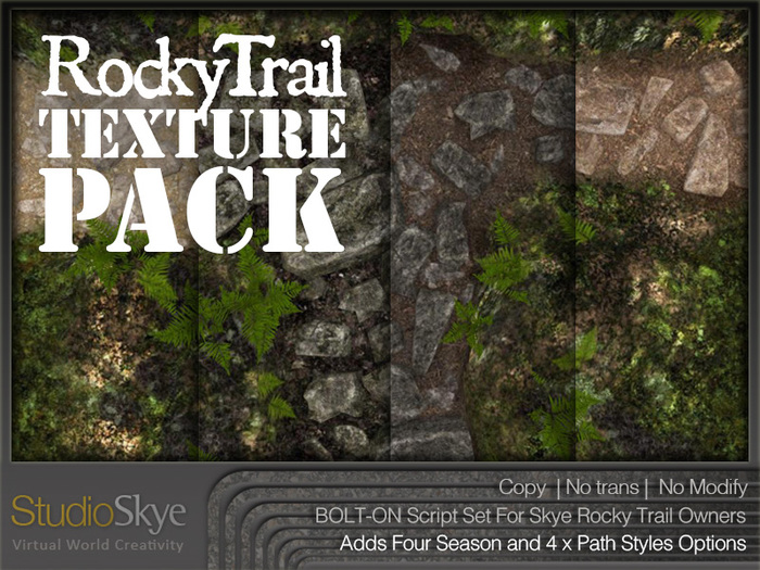 Skye Rocky Trail Bolt-On Texture Pack - 4 Season & Extra Path Styles