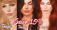 teapi . 3 eyelashes applier pack  SAVE 15% for CATWA head