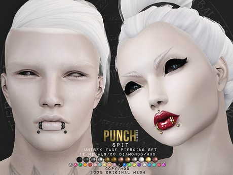 PUNCH / Spit / Lip Piercing {Mesh}