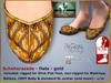 Bliensen + MaiTai - Scheherazade Flats 2.0 - shoes for Slink, Maitreya, Belleza and more - Gold
