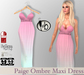#b Paige Ombre Maxi Dress Pink to Teal